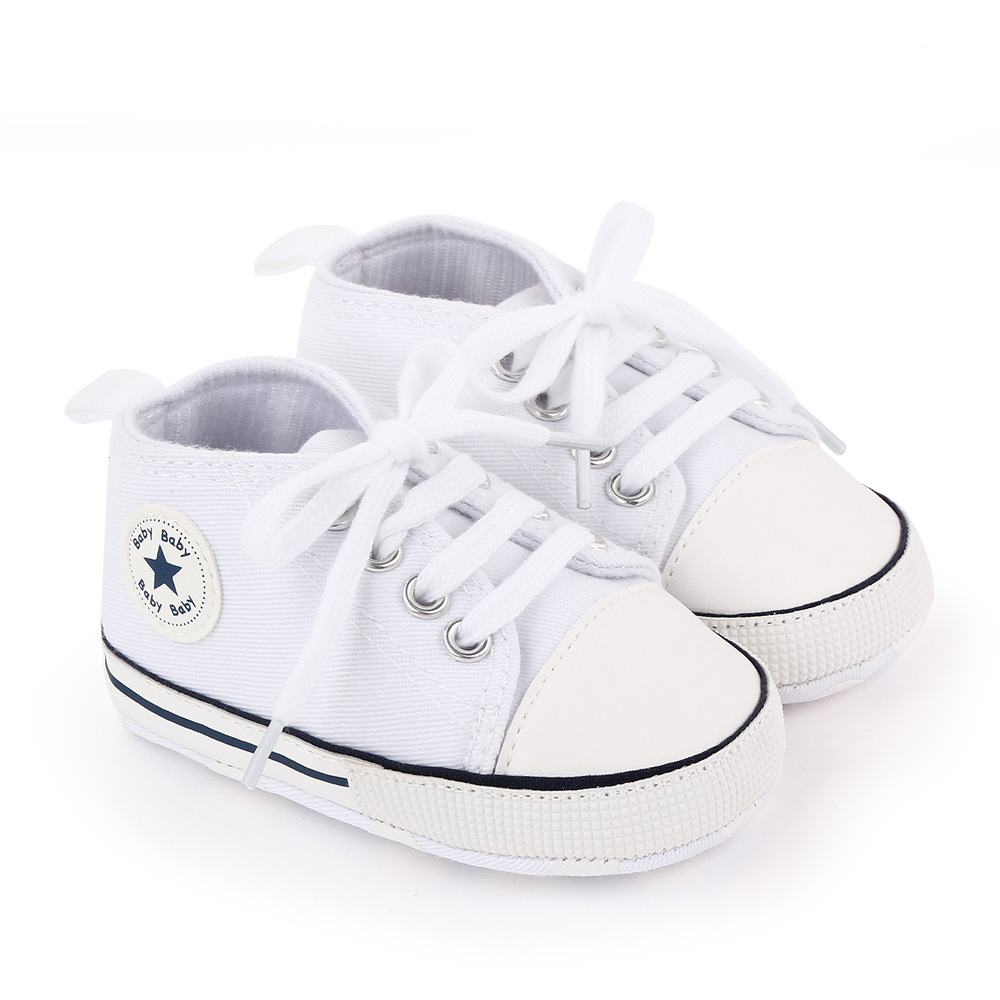 Baby Canvas Classic Sports Sneakers Newborn Baby Boys Girls Print Star First Walkers Shoes Infant Toddler Anti-slip Baby Shoes 2
