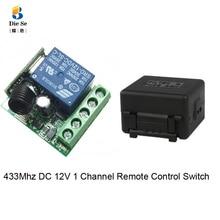433Mhz evrensel RF uzaktan kumanda anahtarı DC 12V 1 kanal röle alıcı modülü