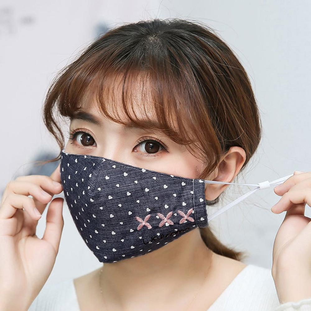 Men And Women Adult Washable Anti Dust Mask Masque Anti Virus Adulte Boy Girl Cotton Letter Print Mask Mascarillas Breathable