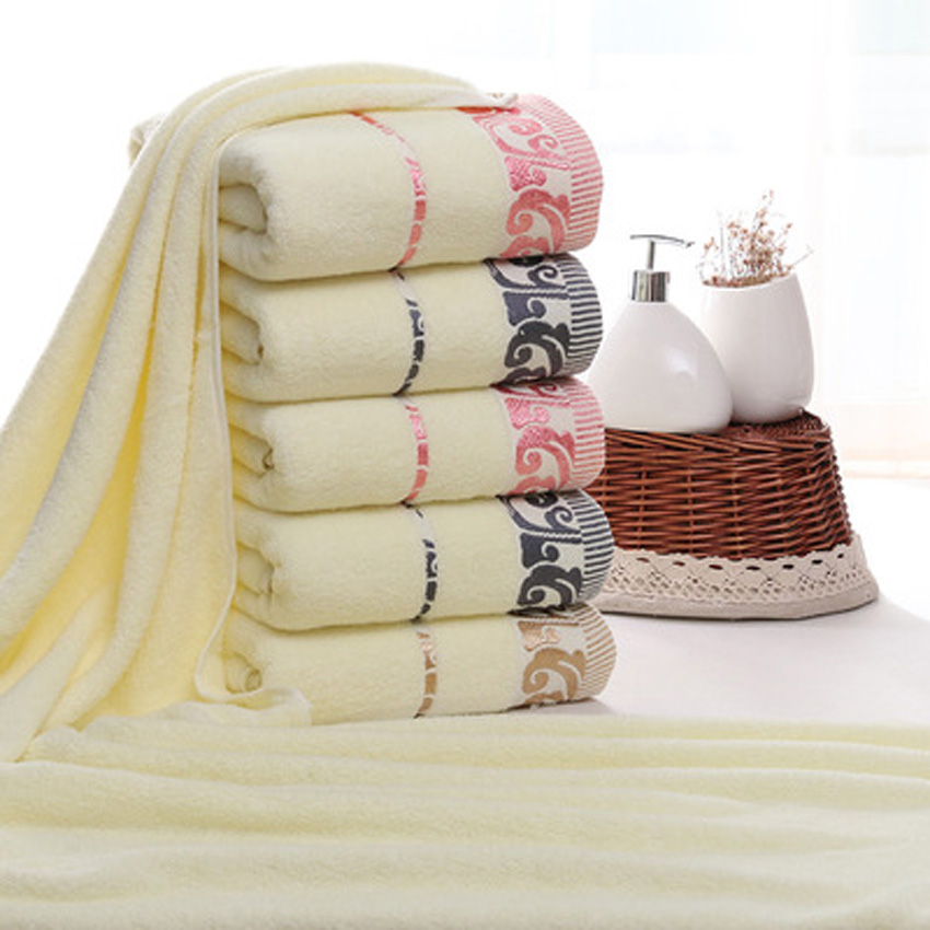 Towel Set Thick Soft Print Bath Hand Hotel Spa Face Kitchen Hair Towel For Adults and Kids toalha de banho havlu toallas recznik