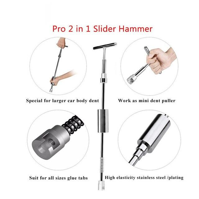 Tools Auto Repair Tool Car Dent Repair Dent Puller Kit 2 in 1 Slide Hammer Reverse Hammer Glue Tabs Suction Cups 2