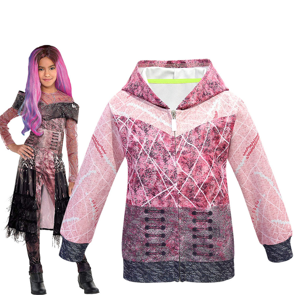 Descendants 3 Cosplay protagonist with the same zipper hoodie men and women clothing 3D printing new song and dance movies image