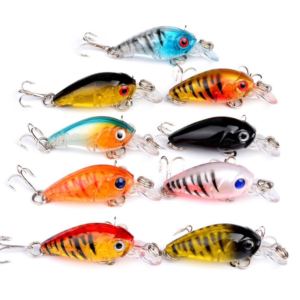 Mini Crankbait 4.5cm 4.1g Chubby Spinner Artificial Hard Bait Wobblers Minnow Fishing Lures Tackle