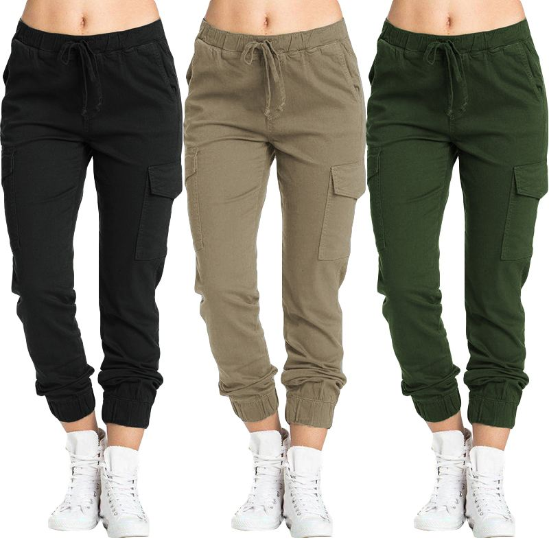 ZANZEA 2020 Fashion Women's Pants Casual Drawstring Elastic Waist Trousers Loose Pockets Pantalones Femme Streetwear Plus Size 7