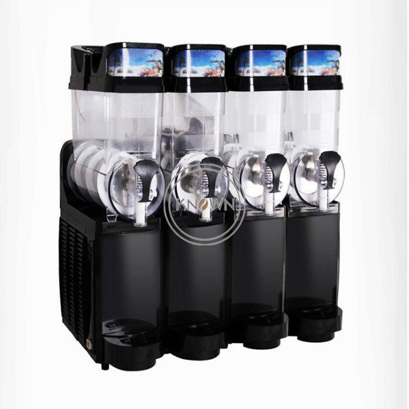 5% Discount 15L*4 Cylinders Snow Slush Ice Melting Making Machine Four Jars Snow Mud Making Machine For Summwer Drink Shop Price
