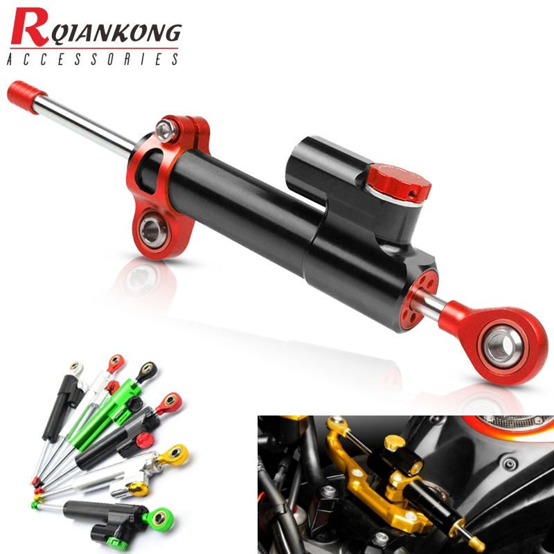 Universal Motorcycle Steering Stabilizer Damper Linear Reversed Safety Control For Ducati Monster 620 I.<font><b>E</b></font> 1198 Monster 900 image
