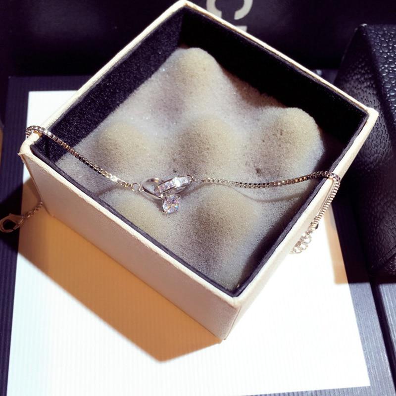 Exquisite Shine AAA Zircon Buckle Women Bracelet Handmade Top Quality Sparking CZ Copper Plated Read Gold Pulseras Brasselet