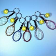 Мода мини теннис ракетка подвеска брелок брелок брелок цепочка кольцо искатель отверстие аксессуары велосипед брелок новинка подарок +горячий