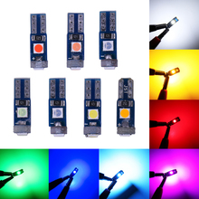 RXZ 1000PCS T5 LED W1.2W LED 3030 LED Super Bright Wedge แดชบอร์ดอัตโนมัติ12V สีชมพูสีแดงสีเหลืองสีเขียว Iceblue สีฟ้า