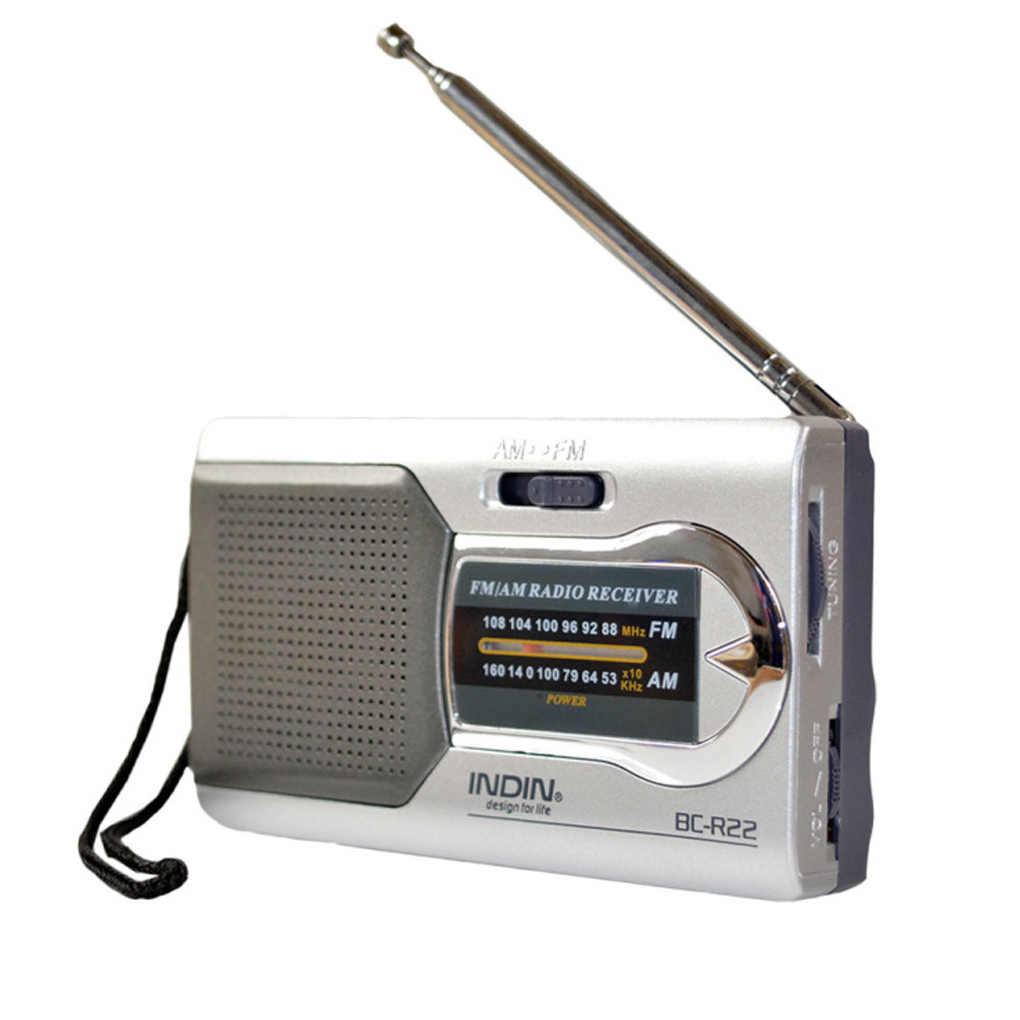 Batterij Aangedreven Ourtdoor Draagbare Am/Fm Telescopische Antenne Radio Pocket Stereo Ontvanger Am Fm Radio Voor Ouderen