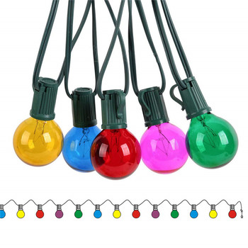 Patio Lights G40 Globe Party Christmas String Light Waterproof with multi colors For Decorative Outdoor Backyard Wedding Light vnl g40 string lights with 25 g40 clear globe bulbs listed for indoor outdoor vintage backyard wedding decoration string lights