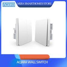 شاومي Aqara الجدار التبديل مفتاح الإضاءة زيجبي نسخة واحدة النار/صفر النار/اللاسلكية التبديل APP التحكم عن بعد المنزل الذكي عدة