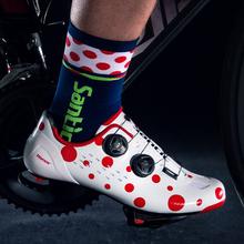 SANTIC kolarstwo szosowe buty antypoślizgowe zawód wyścigi rowerowe samoblokujące buty lekka podeszwa z włókna węglowego sprzęt kolarski tanie tanio CN (pochodzenie) Dla dorosłych Oddychające Buty rowerowe Syntetyczny Średnie (b m) Gumką MS19007 Pasuje prawda na wymiar weź swój normalny rozmiar