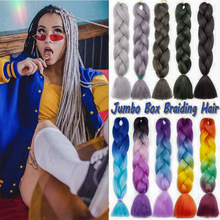 Synthetic-Hair Hair-Packs Braiding-Hair Bulk Lihui 24inch Ombre for Jumbo DIY Wholesale