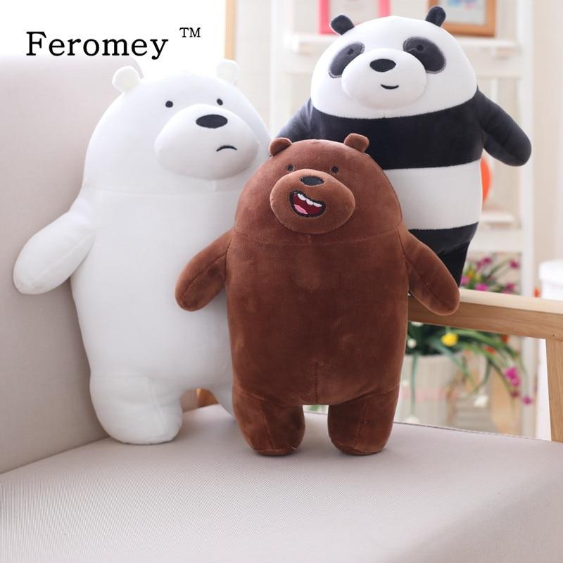10cm-50cm Kawaii We Bare Bear Panda Plush Toy Cartoon Bear Stuffed Doll Bear Panda Soft Doll Kids Children Toys Birthday Gift