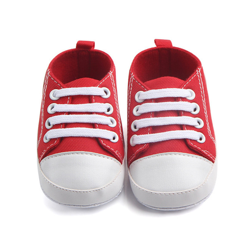 Fast Shipping Newborn First Walkers Shoes Sneaker Anti-Slip Sole Unisex Toddler Casual Canvas Baby Infant Boy Girl Socks Shoes