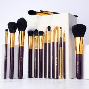 Image 5 - Jessup makyaj fırça seti 15 adet kozmetik araçları makyaj fırça pudra fondöten kapatıcı göz farı Eyeliner dudak fırçası güzellik