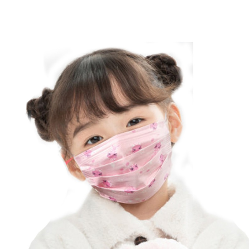 10pcs/SET Baby Care Set New Cartoon Cute Anti-Dust Mouth Face Mask For Kids Disposable Non-Woven Fabric Masks Random Color