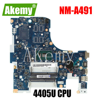 SAMXINNO Free Shipping For Lenovo ideapad 300-17ISK BMWD1 NM-A491 Laptop motherboard SR2EX 4405U CPU image