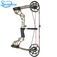 Archery Compound Bow 40 60lbs Hunting Bow 370FPS Arrow Steel Ball Dual Purpose Crossbow Hunting Slingshot Archery Bow