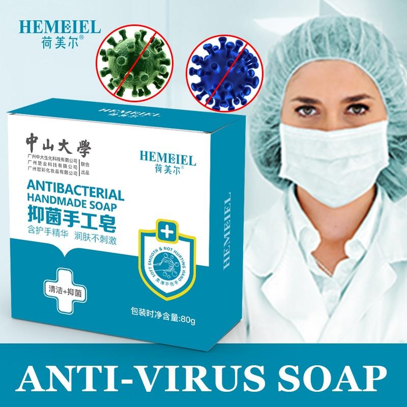 HEMEIEL Disinfection Hand Soap Anti Virus Lemon Essence Pimple Acne Treatment Face Soap Handmade Body Wash Sterilize Oil Control