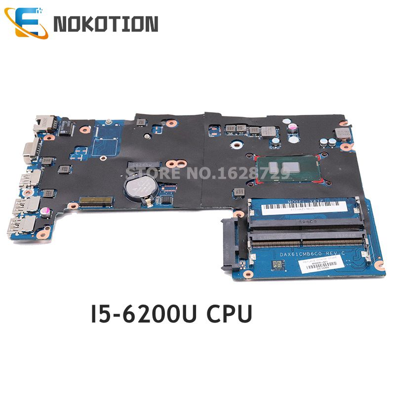 NOKOTION 855656-001 DAX61CMB6C0 Main Board For HP Probook 440 G3 430 G3 Laptop Motherboard 14 Inch SR2EY I5-6200U CPU GMA HD 520