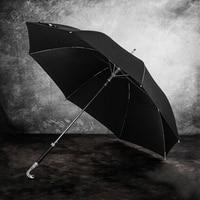 Black Chinese Umbrella Designer Anmial Luxury Semi automatic Designer Windproof Umbrella Male Folding Payung Rain Gear AE50YS