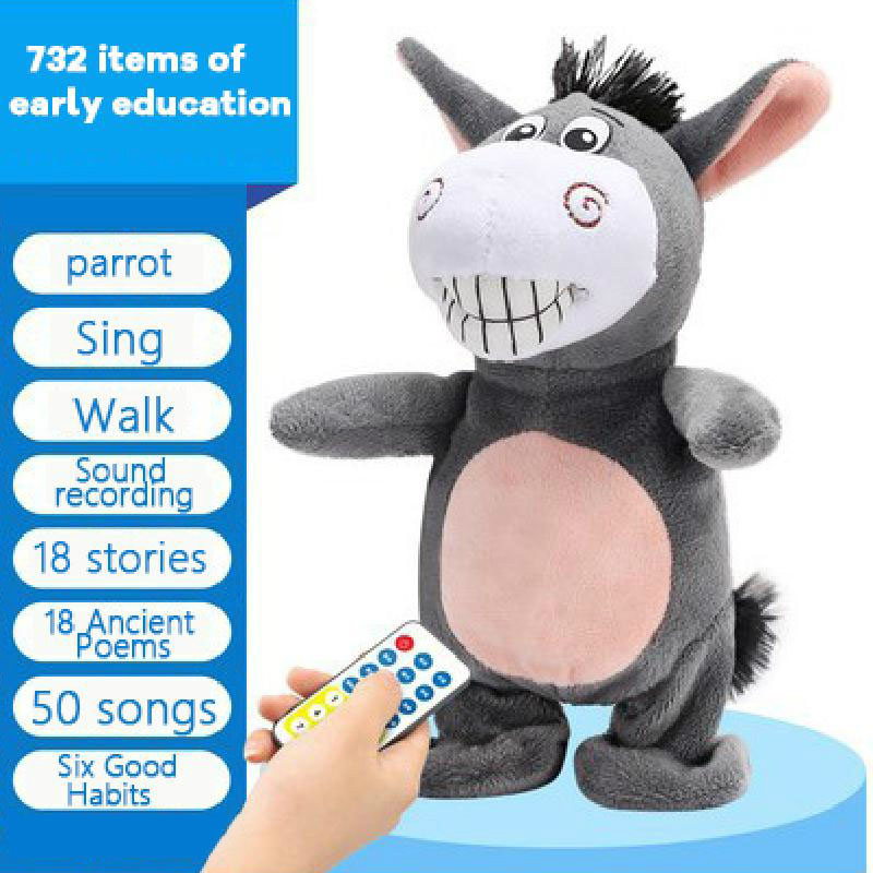 Plush-Toy Robot Donkey Electronic-Toys Walk/sing Can Remote-Control Gifts Baby Kids