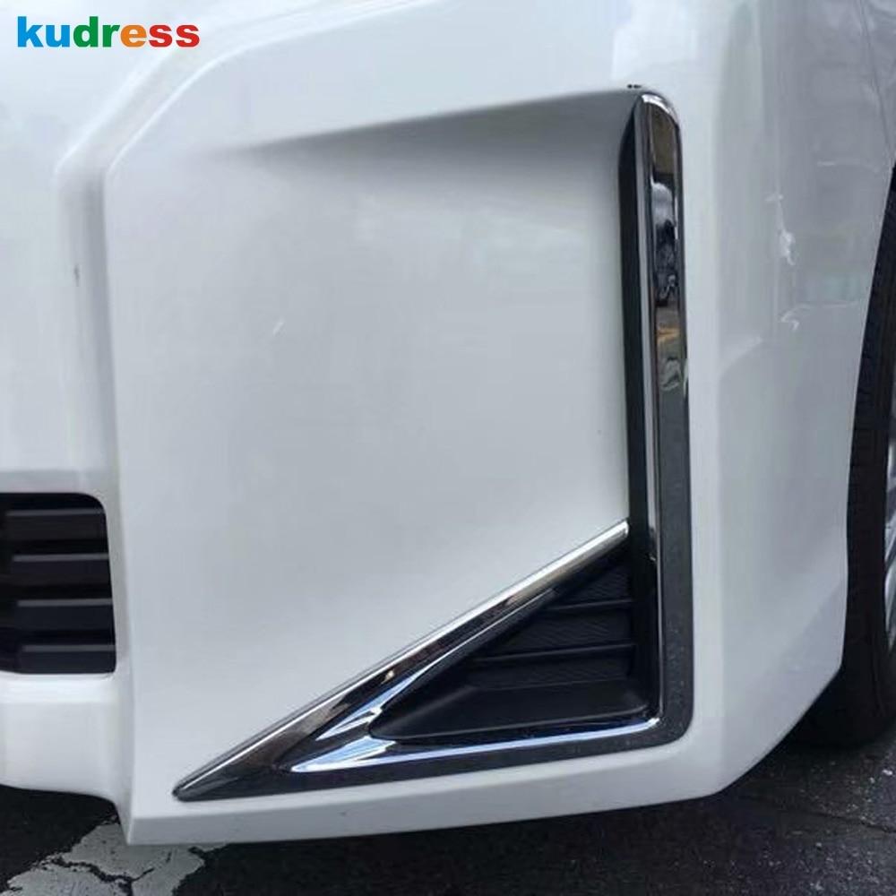 For Toyota Noah Voxy 2017 2018 ABS Chrome Front Front Reflector Fog Light Lamp Cover Trim Foglight Bumper Molding Garnish