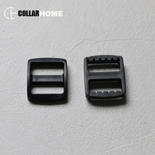 10Pcs Black Plastic Tri-Glide for Belt Backpack Bags Diy Dog Collar Accessories Environment friendly quality garment accessories