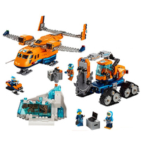 60196 731pcs CITY Series Thre Arctic Supply Plane Model Educational DIY Toy For Children 10996 Building Block Gift