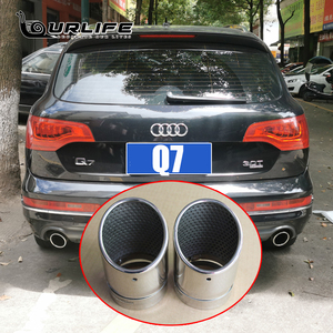 DWCX 2X STAINLESS STEEL FINISHER END EXHAUST TAIL REAR MUFFLER TIP PIPE TAILPIPE For AUDI A6 Q7 2006 to 2013 accessories