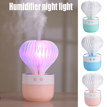 Car Desktop Mini USB Cotton Swab Spray Humidifier Air Purifier Table Lamp Led Colorful Rechargeable Night Light Birthday Gifts