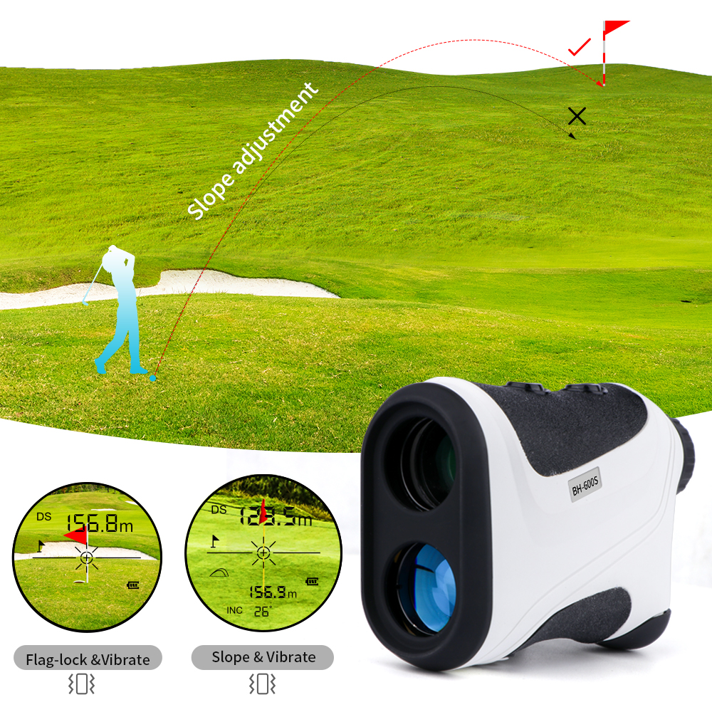 Rangefinder Golf   Telescope Distance Jolt  Slope Finder  Vibrate             Range   2021 Flag   Laser    Lock With   Adjust Meter    BH600S