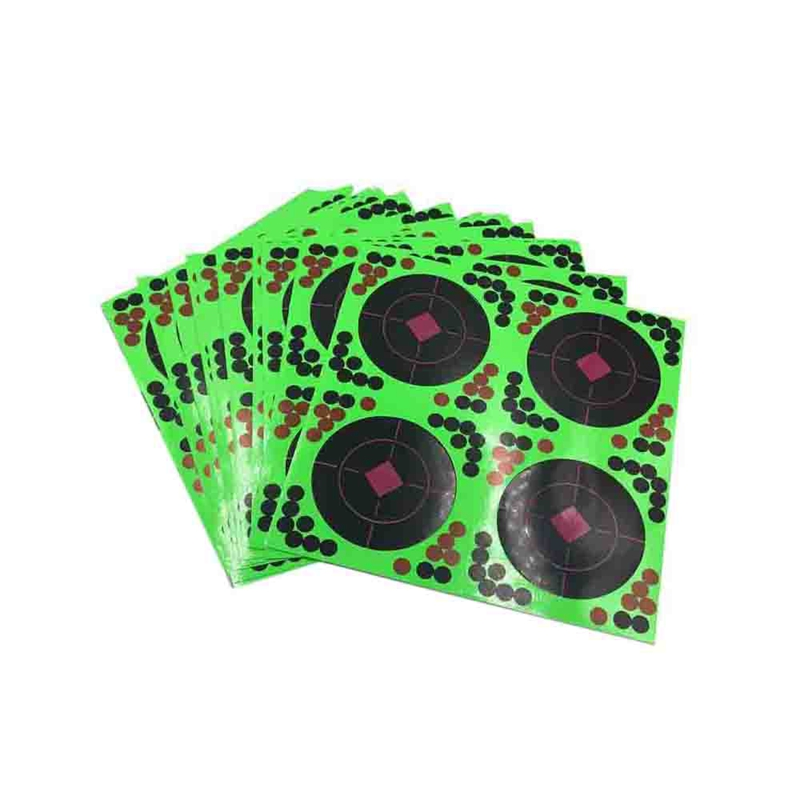 25 Sticks Pack Targets Sticks Reactive Adhesive Splash Flower Target Paper 20X20cm Firing Target High Visibility Fluorescent Gre