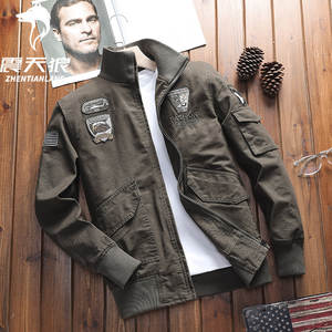 Cross Border for Amazon Field Jacket Men's Workwear American-Style Loose And Plus-sized Pure Cotton Washing Coat Thin Type for S