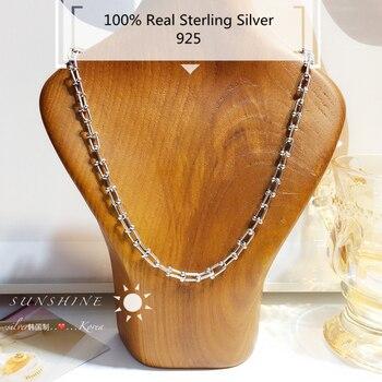 Чокеры IMVES из стерлингового серебра, классическое жесткое ожерелье, новые женские парные индивидуальные Цепочки S925, женская бижутерия, распродажа на алиэкспресс