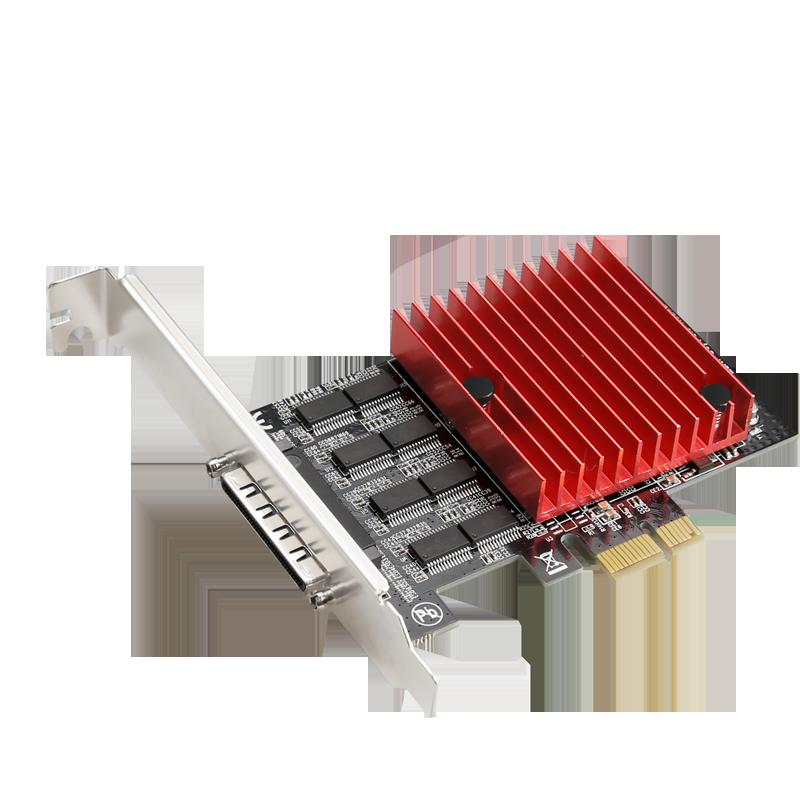 Cartão de Série com Ventilador para Fora Pci-express para 8 Portas Cabo Asix Mcs9900 Chipset Pcie Alta Velocidade Rs-232 920kb Rs232 Db9