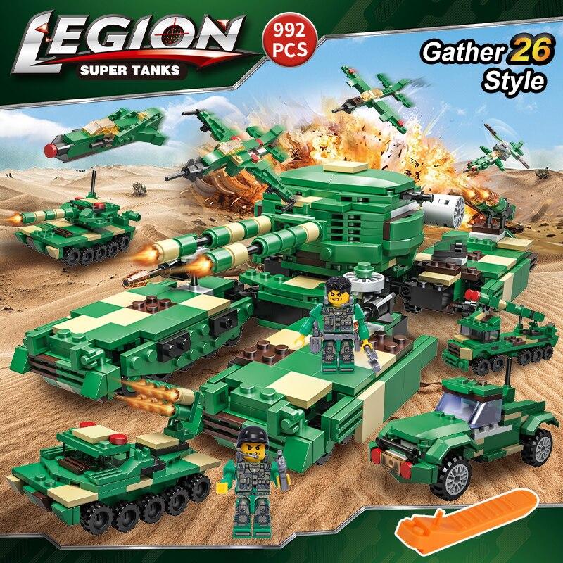922 PCS Military Tank Building Blocks Transformation Figures Educational Bricks Compatible LegoiNglY Vehicle Toys For Children