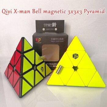Qiyi x-man campana magnética 3X3x3 cubo de velocidad mágica pirámide XMD 3x3 cubo mágico 3x3x3 rompecabezas pirámide juguetes educativos para niños