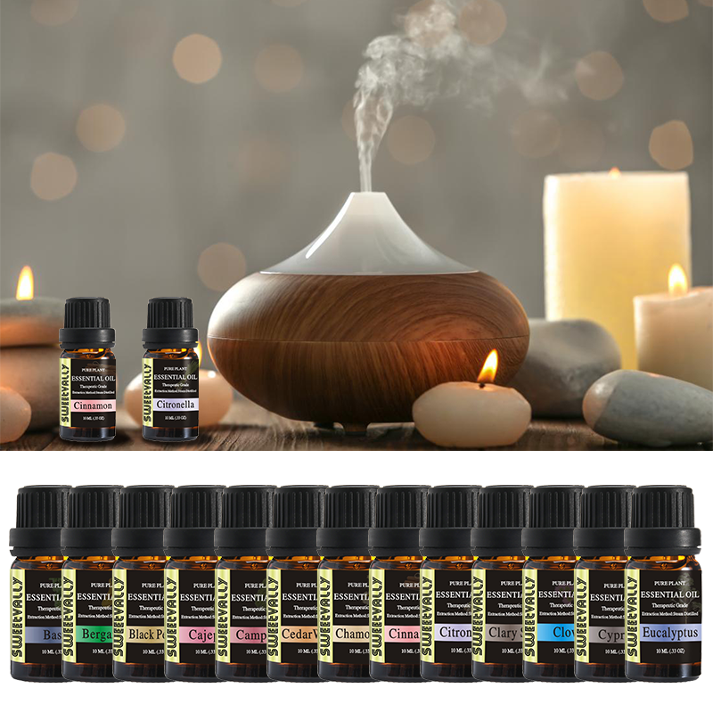 18 Flavors Essential Oils For Humidifier Fragrance Lamp Aroma Diffuser Lavender Lemon Sandalwood Ylang Ylang Air Oil