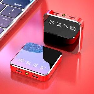 Image 3 - 10000mAh מיני נייד כוח בנק תשלום מהיר מראה מסך תצוגת LED Powerbank פנס תאורה עבור חכם טלפון נייד