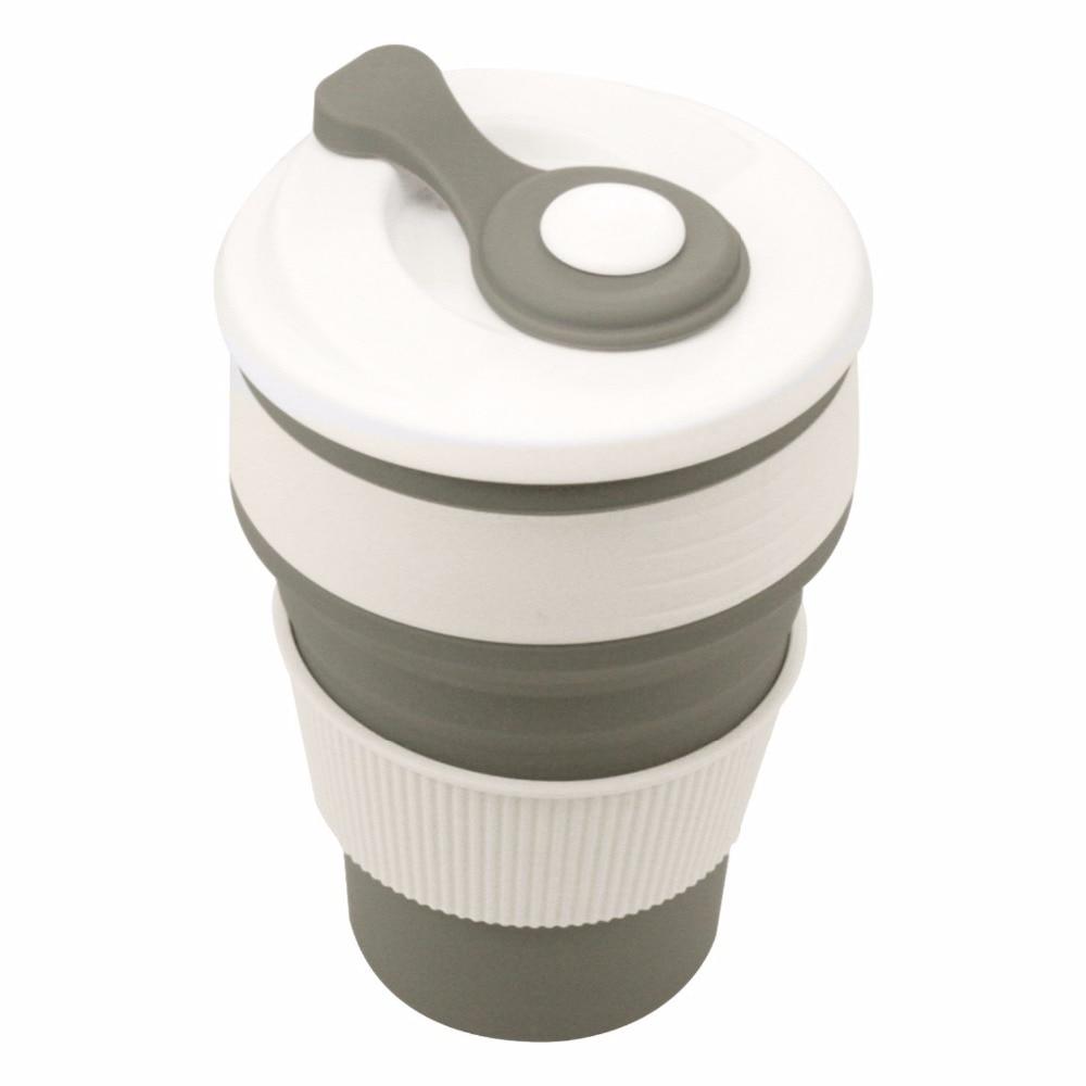 Coffee Mugs Travel Collapsible Silicone Cup Folding Water Cups BPA FREE Food Grade Drinking Ware Mug Tea Coffee Cups 3
