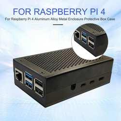 Подходит для Raspberry Pi 4 металлический корпус Защитная коробка корпус компьютерные аксессуары