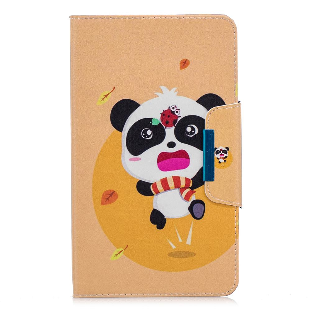 Tablet Cover For Samsung Galaxy Tab A 8.0 Inch 2018 SM-T387 T387V T387P T387 Unicorn Panda Cat Case Coque Funda Pen Back Shell