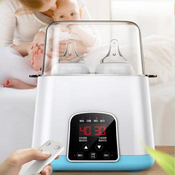 Ulepszony 6 w 1 pilot automatyczny inteligentny termostat butelka dla dziecka podgrzewacze dezynfekcja szybkie ciepłe mleko i sterylizatory tanie i dobre opinie CN (pochodzenie) W wieku 0-6m 7-12m 13-24m Electric Bez lateksu Wolne od nitrozoaminy Bez ftalanów Bez BPA Bez PCV 10 minut
