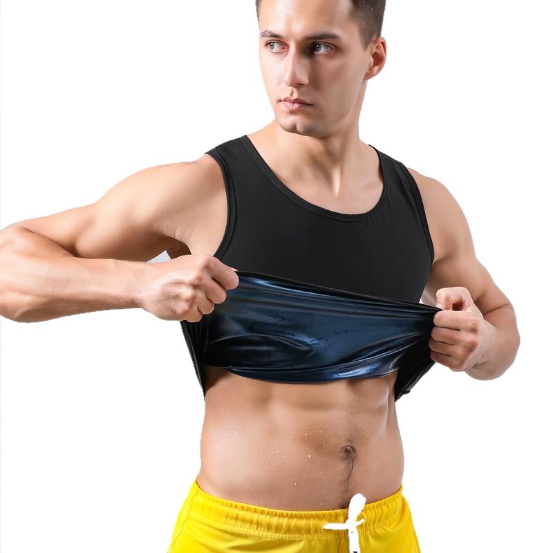 Men Sweat Vest Sauna Shapers Body Shapewear Waist Trainer Slimming Vest Hot Thermo Sweat Sauna Tank Tops Fitness Workout Suits 1