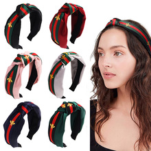6PCS Polka Dot Hair Accessories Small Bee Style Striped Headband Hairpin Wide-Brimmed Knot Hair Band knot front zip back polka dot romper