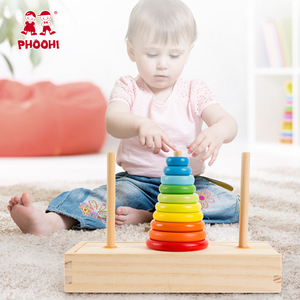Image 5 - Hanoi Turm Kinder Pädagogisches Spielzeug Holz Frühen Lernen Klassische Mathematische Puzzle Spielzeug für Kinder