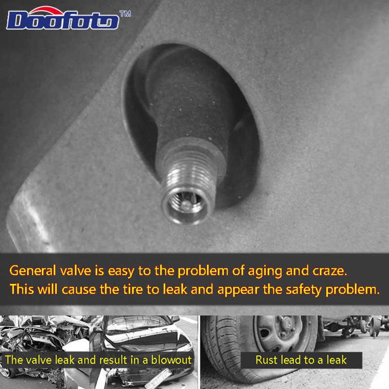 Doofoto 4x tapa de la válvula del neumático de la rueda del coche para Mitsubishi Ralliart Outlander 3 Asx Lancer 10 Pajero accesorios de coche deportivo